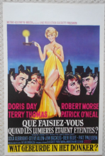 Where Were You When the Lights Went Out, Orig Belgian Movie Poster, Doris Day 68